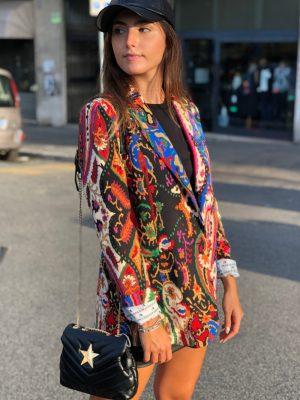 Mako Fashion giacca fantasia