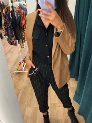 Mako Fashion pantalone gessato