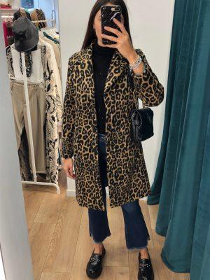 Mako Fashion cappotto maculato