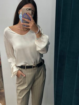 Mako Fashion blusa con catena