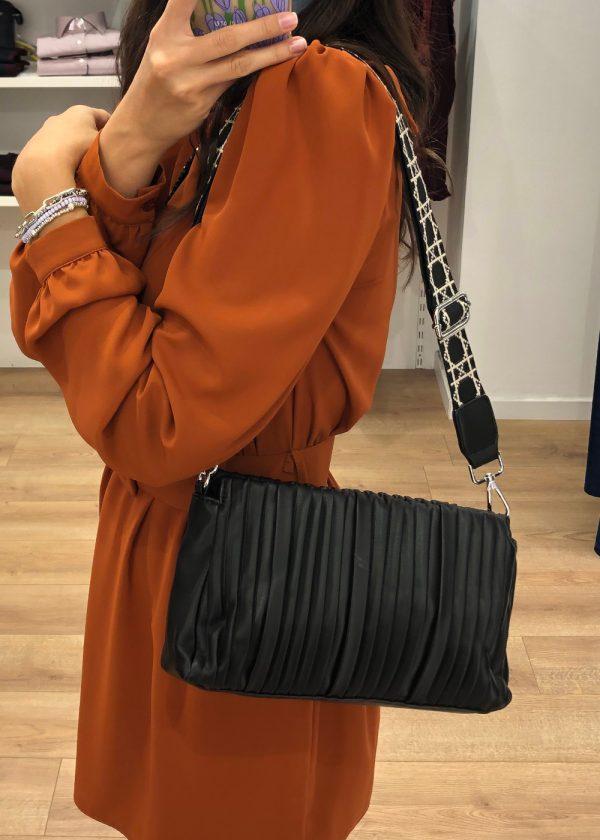 Mako Fashion borsa plisse ecopelle