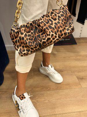 Mako Fashion borsa catena leopardata