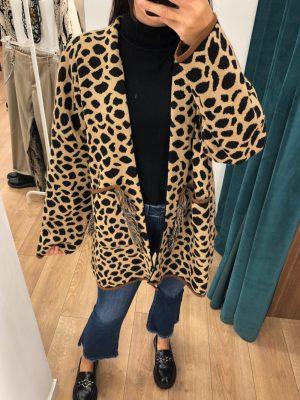 Mako Fashion cardigan giraffa