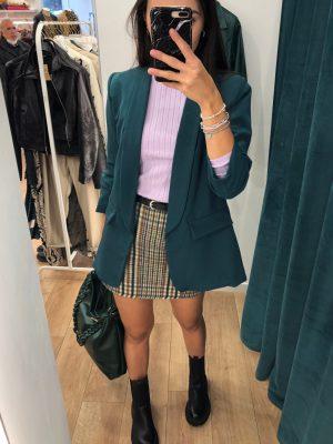 Mako Fashion giacca manica arricciata